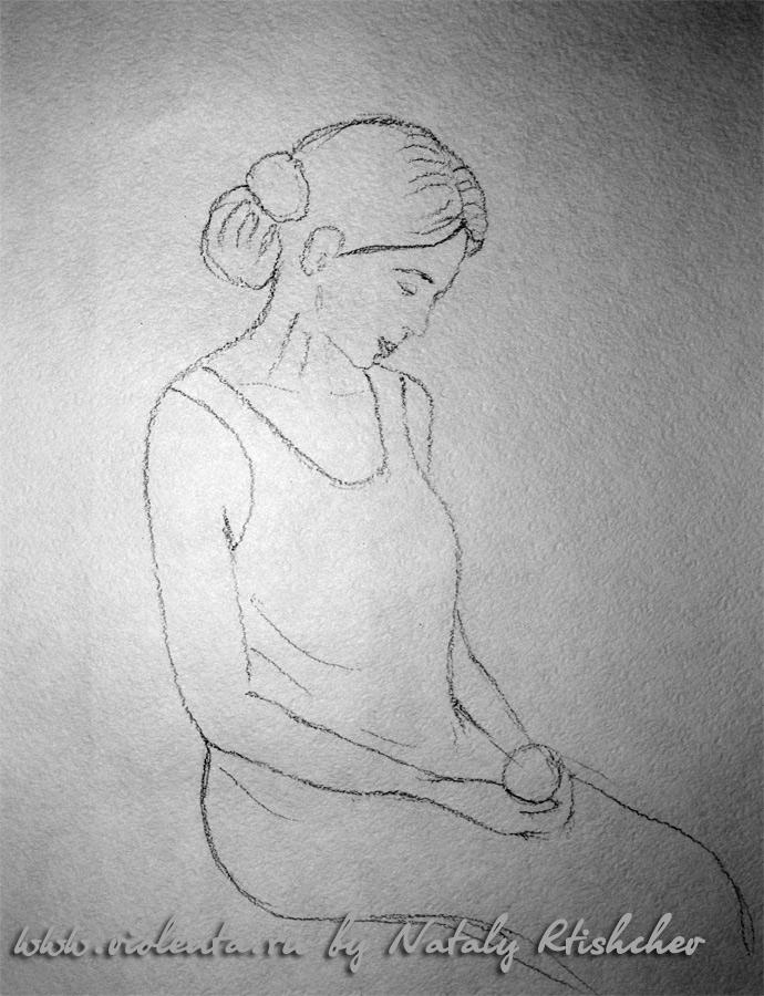 Наброски и зарисовки головы человека